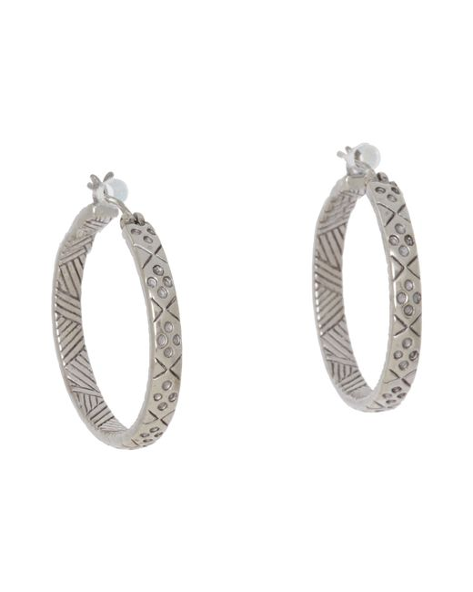The Sak | Metallic Etched Hoop Earrings | Lyst