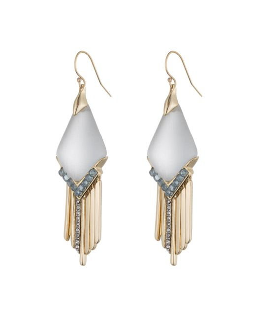 Alexis Bittar | Metallic Cabochon Chevron Fringe Earring You Might Also Like | Lyst