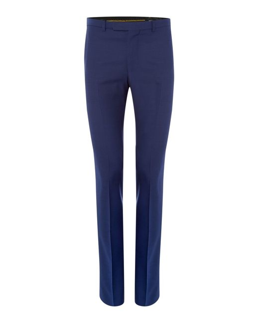 Label Lab | Blue Kinsey Plain Extra Slim Suit Trousers for Men | Lyst