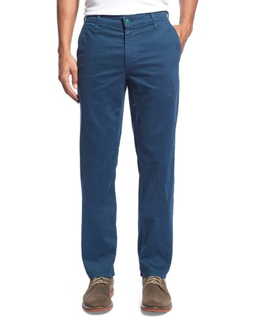 AG Jeans | Blue Green Label 'graduate' Slim Straight Leg Golf Pants for Men | Lyst
