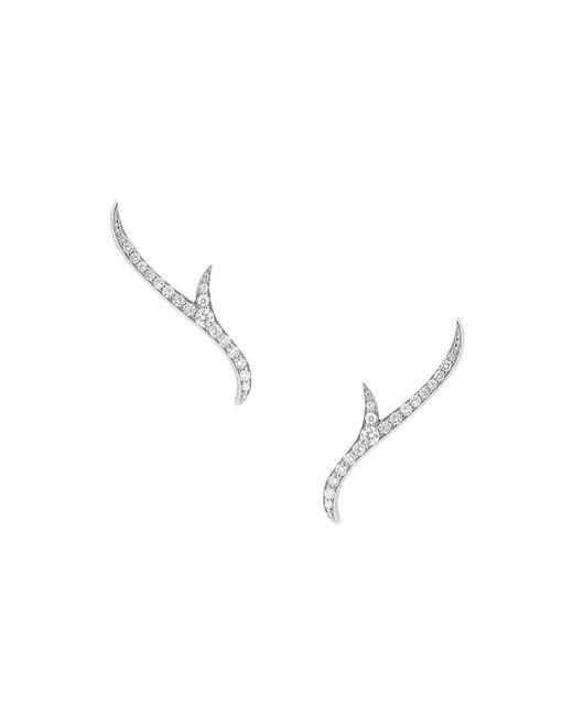 Stephen Webster | Metallic 18k White Gold Pavé Diamond Thorn Earrings | Lyst