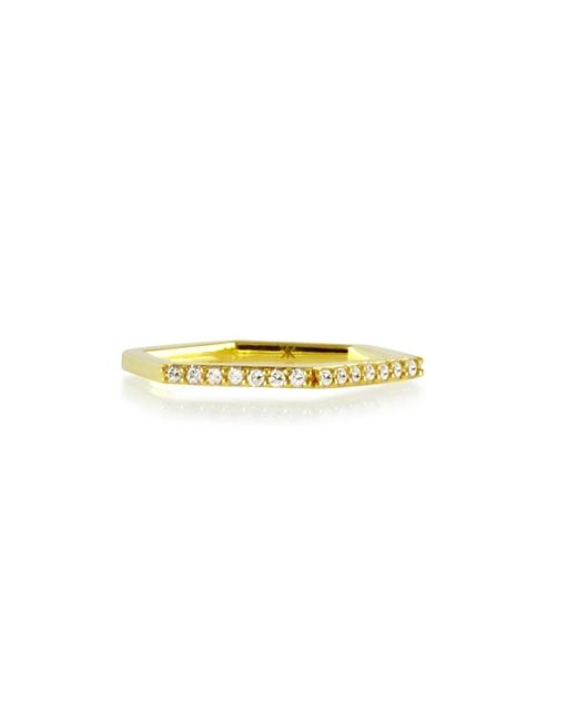 Khai Khai | Yellow Diamond Hexagon Ring | Lyst