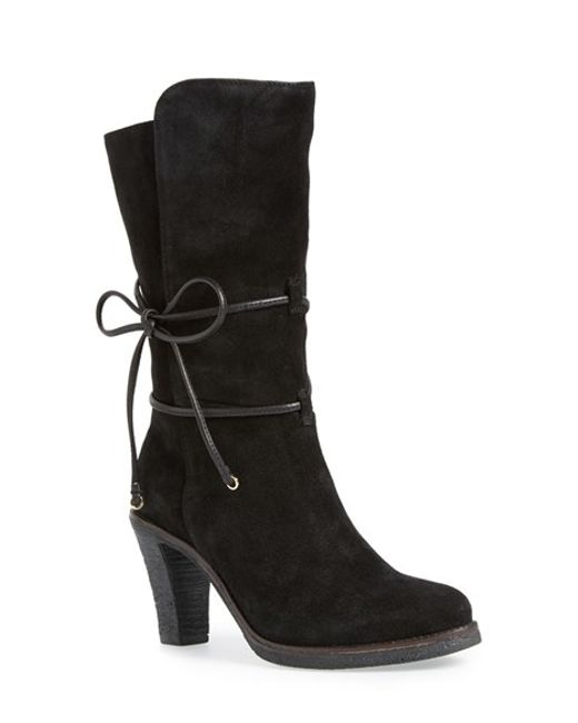 Johnston & Murphy | Black 'jeanie' Mid Calf Boot | Lyst