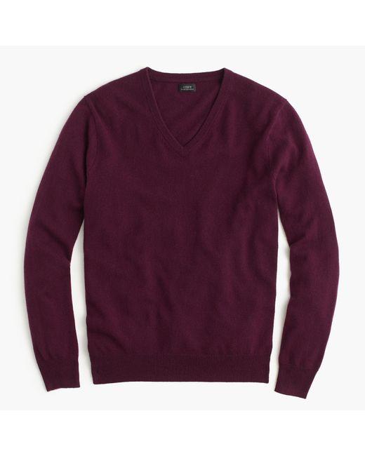 J.Crew | Purple Italian Cashmere V-neck Sweater for Men | Lyst