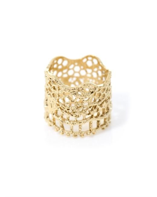 Aurelie Bidermann | Metallic Gold-Plated Vintage Lace Ring | Lyst