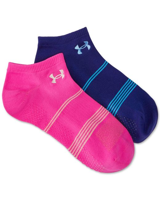 Under Armour | Blue Women's Grippy No Show Socks 2 Pack | Lyst