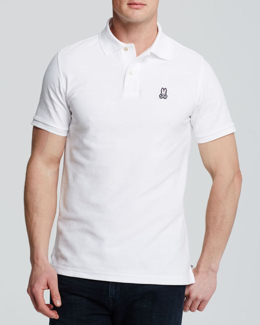 Psycho Bunny | White Classic Polo - Regular Fit for Men | Lyst