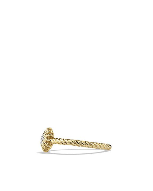 David Yurman | Metallic Small Starburst Ring With Diamond In 18k Gold | Lyst