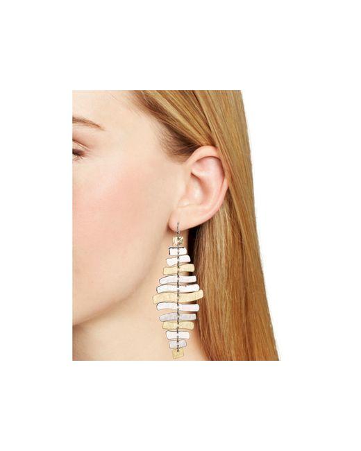 Robert Lee Morris | Metallic Wishbone Chandelier Earrings | Lyst