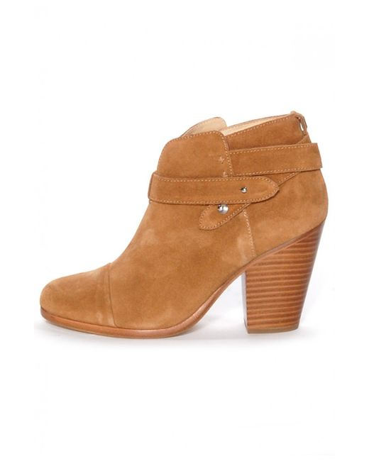 rag bone harrow suede ankle boot in brown hazel lyst