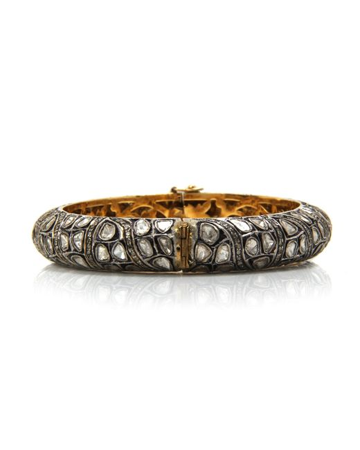 Sanjay Kasliwal | Metallic Roundedâ diamond Bracelet | Lyst
