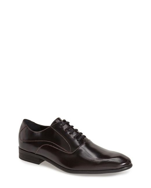 Calvin Klein | Black 'von Brush Off' Plain Toe Derby for Men | Lyst