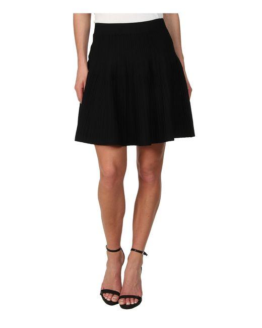 BCBGMAXAZRIA | Black Kelli Ottoman A-Line Skirt | Lyst
