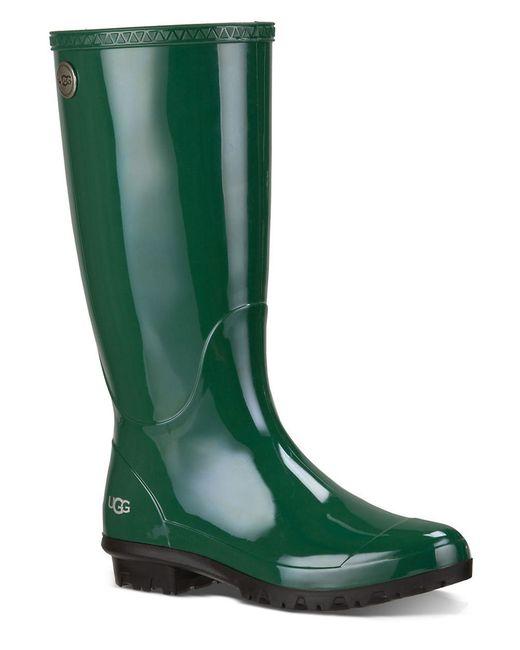 UGG | Green Shaye Rain Boots | Lyst