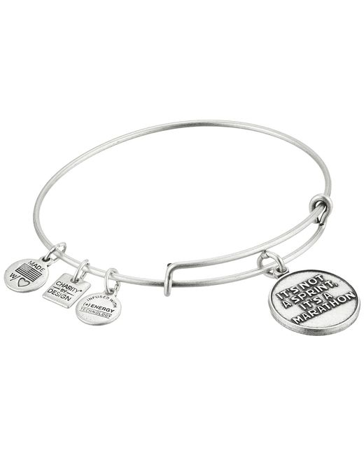 ALEX AND ANI   Metallic Charity By Design It's Not A Sprint Charm Bangle   Lyst
