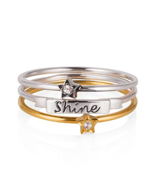 Lee Renee | Metallic 'shine Like A Star' Stack Ring | Lyst