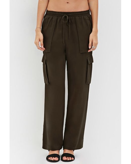 Awesome Forever 21 In Command Cargo Joggers In Natural  Lyst