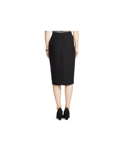 ralph faux wrap pencil skirt in black lyst