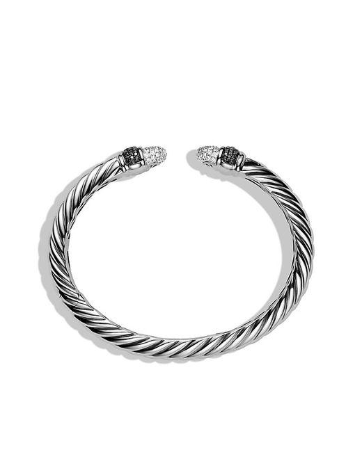 David Yurman | Metallic Sculpted Cable Bracelet With Diamonds | Lyst