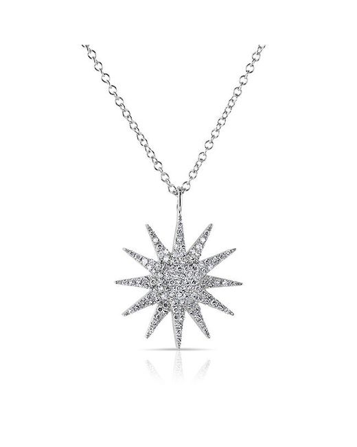 Anne Sisteron | Metallic 14kt White Gold Diamond Glimmer Necklace | Lyst