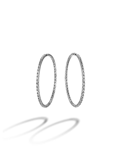 John Hardy | Metallic Classic Chain Sterling Silver Hoop Earrings/1.5 | Lyst