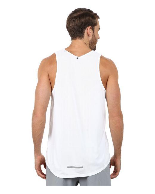 Nike | White Dri-fit™ Contour Running Singlet for Men | Lyst