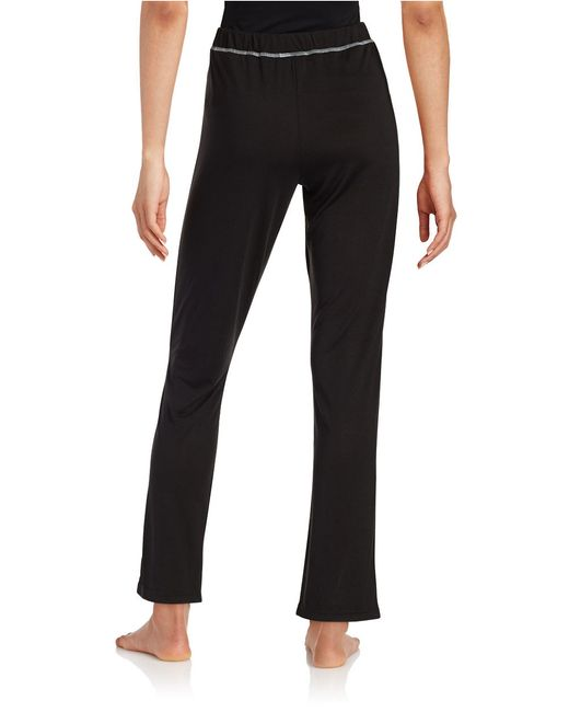Calvin Klein | Black Knit Sleep Pants | Lyst