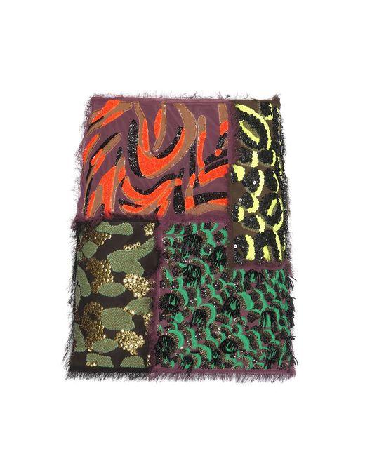 Versace   Green Patchwork Skirt   Lyst