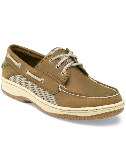 Sperry Top-sider Billfish 3 Eye Mens Tan/beije Boat Shoes These are slightly used but in great shape. Please see pictures for condition. There are a couple slight scuffs on the top front of one shoe .