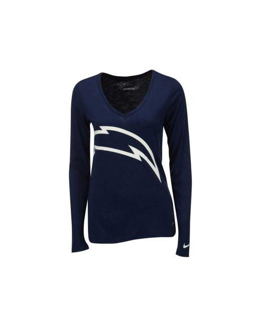 Nike Women S Long Sleeve San Diego Chargers Logo Wrap T