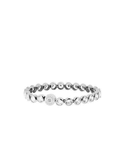 Michael Kors | Metallic Cubic Zirconia Silver-tone Tennis Bracelet | Lyst