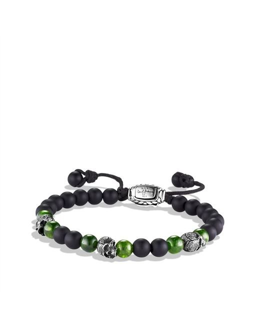 David Yurman | Spiritual Beads Skull Bracelet with Black Onyx and Green Diopside for Men | Lyst