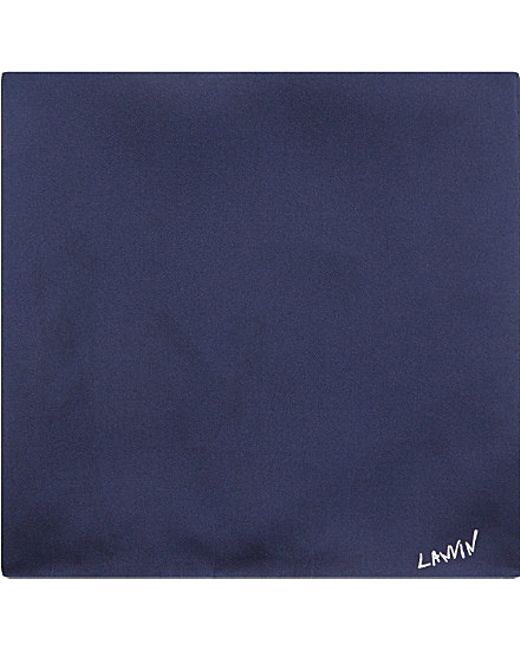Lanvin | Blue Silk Pocket Square for Men | Lyst