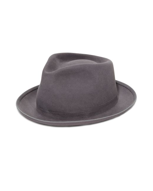 SuperDuper Hats | Gray The Gambler Rabbit Fur Felt Hat for Men | Lyst