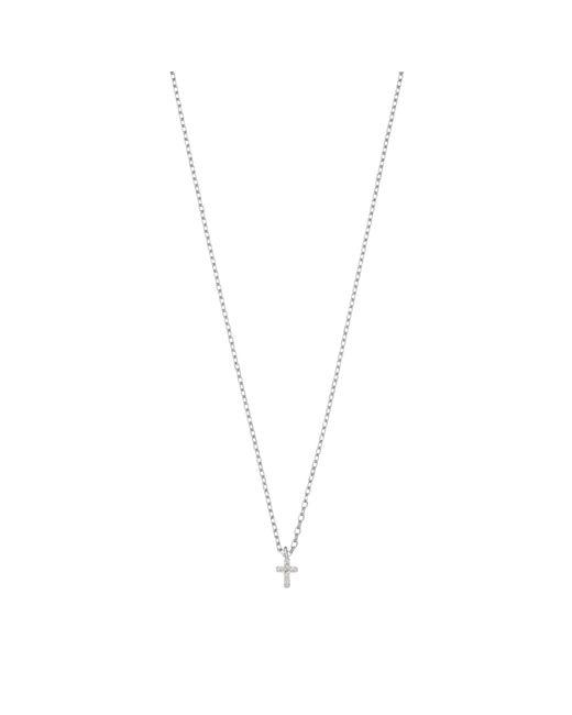 Estella Bartlett | Metallic Fine Mini Cross Sterling Silver Pendant | Lyst