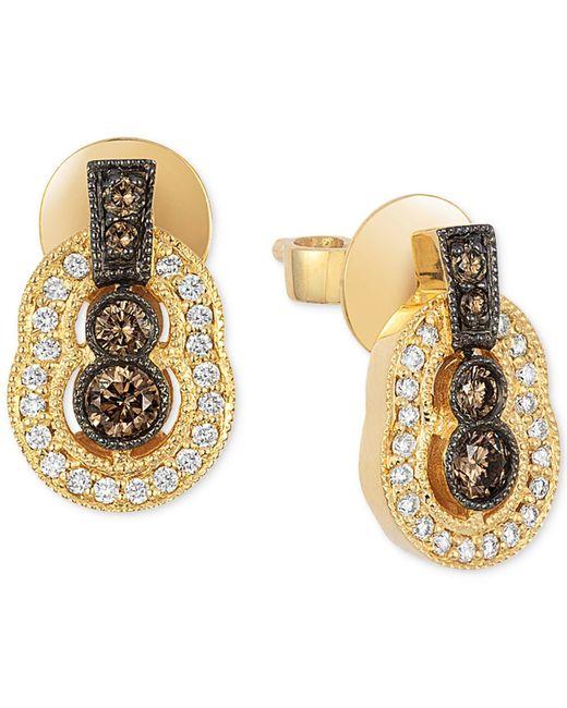 Le Vian | Metallic Chocolatier® Chocolate Deco Estate™ Gold Diamond (3/8 Ct. T.w.) Stud Earrings In 14k Gold | Lyst