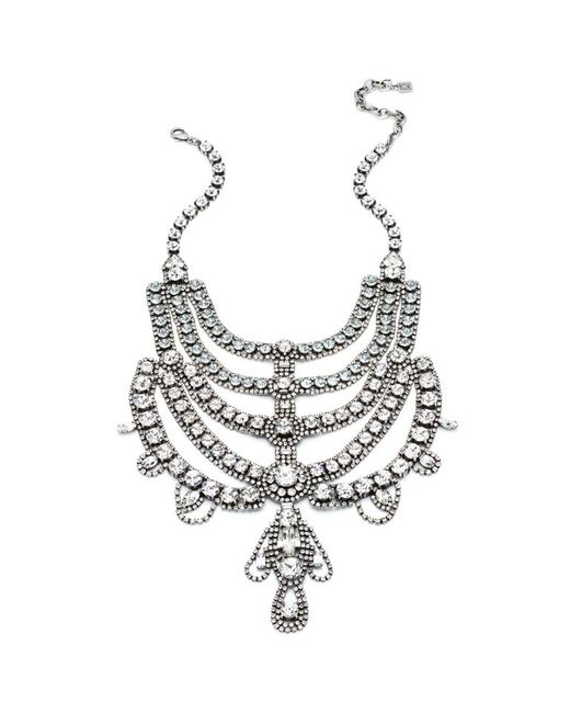 DANNIJO | Metallic Margaux Crystal Bib Necklace | Lyst