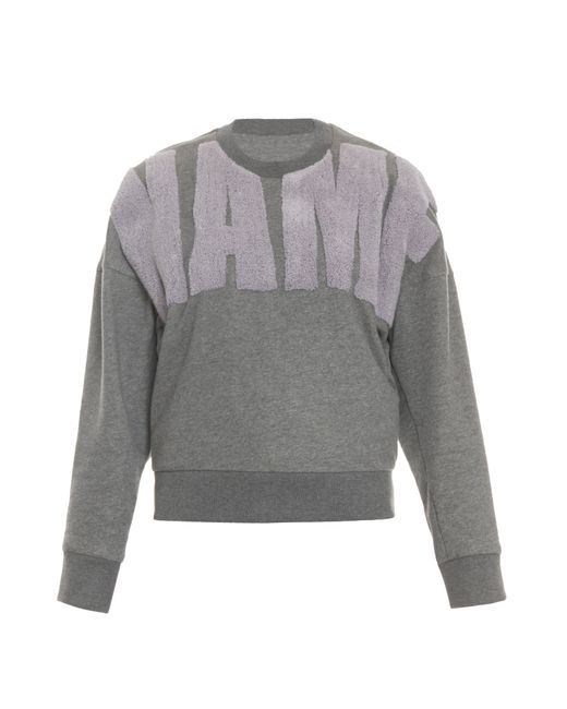 3.1 Phillip Lim | Gray Name Drop Terry Sweater | Lyst