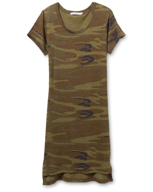 Alternative Apparel | Green Eco-jersey Printed T-shirt Dress | Lyst