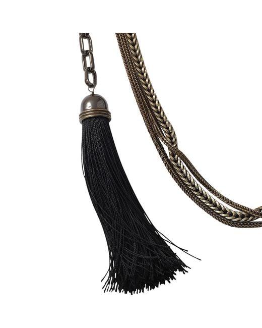 Lanvin | Black Vita Long Tassle Necklace | Lyst