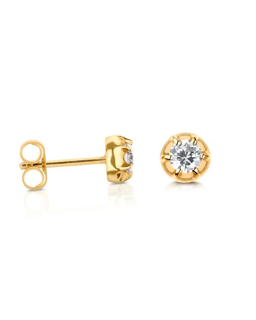 Carbon & Hyde | Metallic Rose Stud | Lyst