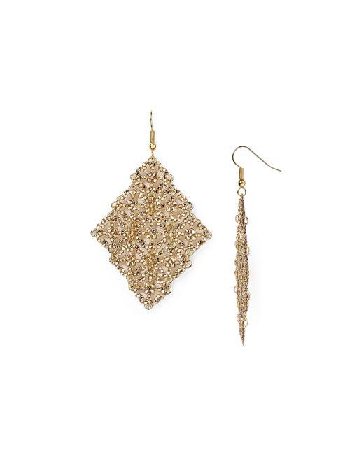 Roni Blanshay   Metallic Swarovski Crystal Drop Earrings   Lyst