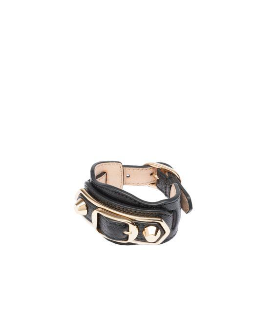 Balenciaga | Black Classic Metallic Edge Bracelet | Lyst