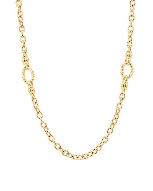 Lagos | Metallic Long Link Necklace | Lyst