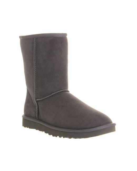 ugg classic short boots in gray save 35 lyst. Black Bedroom Furniture Sets. Home Design Ideas