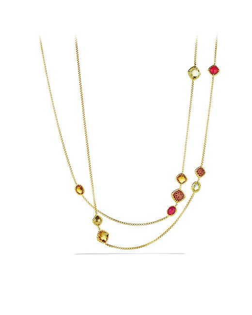 David Yurman | Yellow Chatelaine Chain Necklace With Madeira Citrine, Citrine And Orange Sapphires In 18k Gold | Lyst