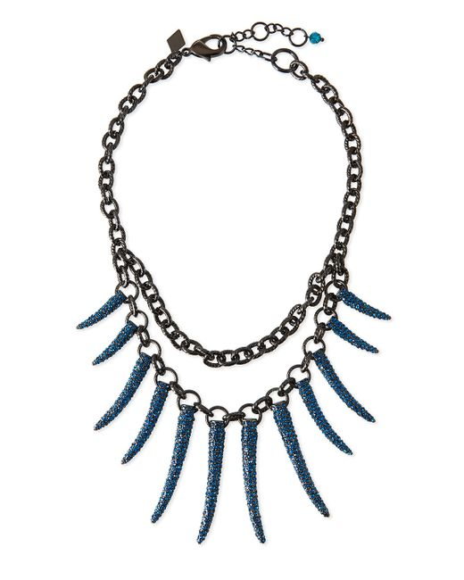 Sequin | Blue Athena Pave Statement Necklace | Lyst