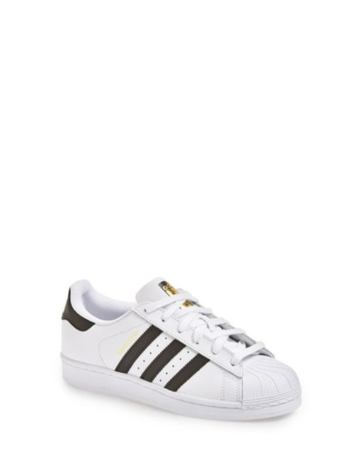 Adidas Originals Superstar White And Black Trainers In