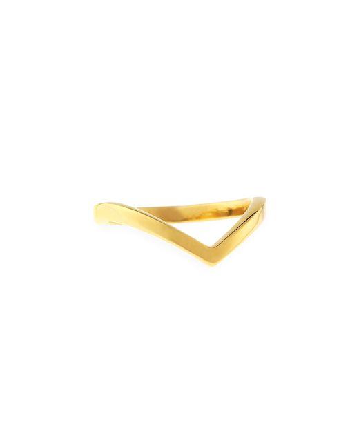 Vita Fede | Metallic Ultra Mini V Ring | Lyst