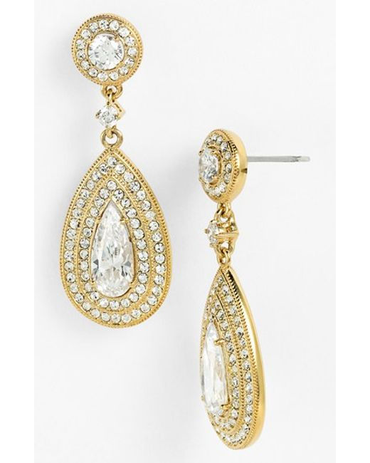 Nadri | Metallic Pear Drop Earrings | Lyst